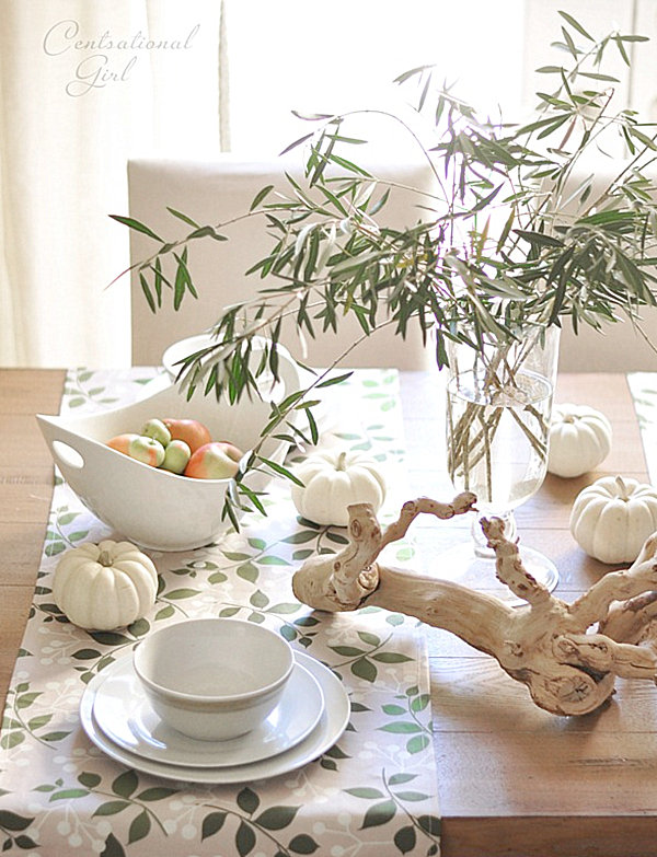 Contemporary fall table