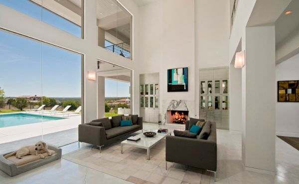 Upscale Coastal Living Room