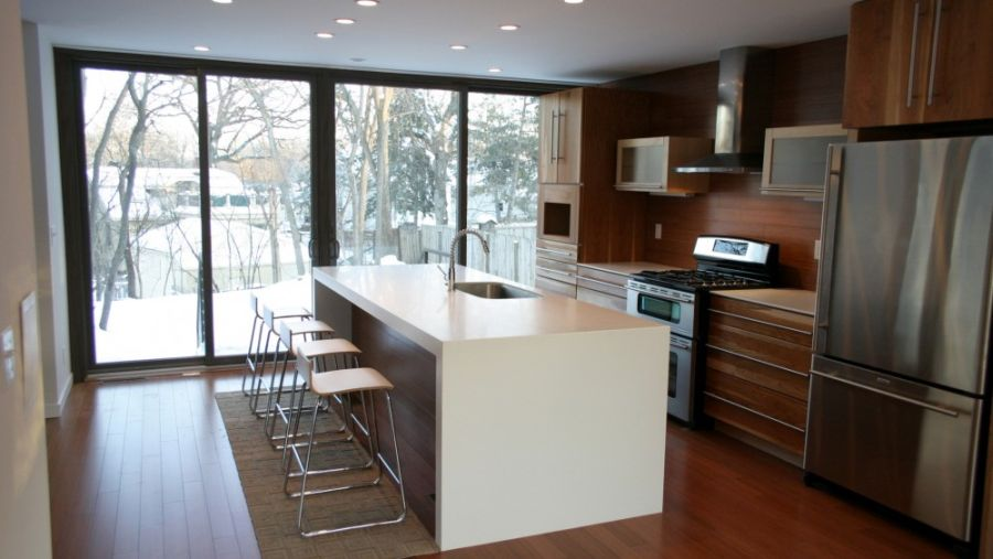 Contemporary kitchen inside the weeHouse