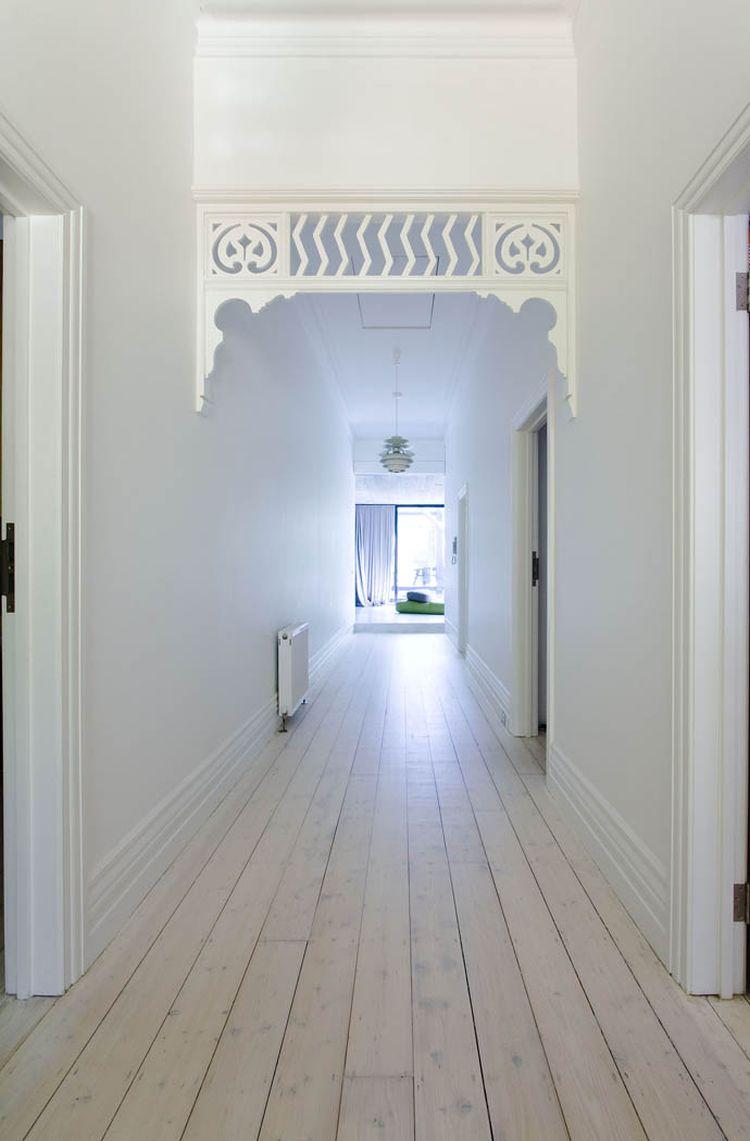 Corridor in white