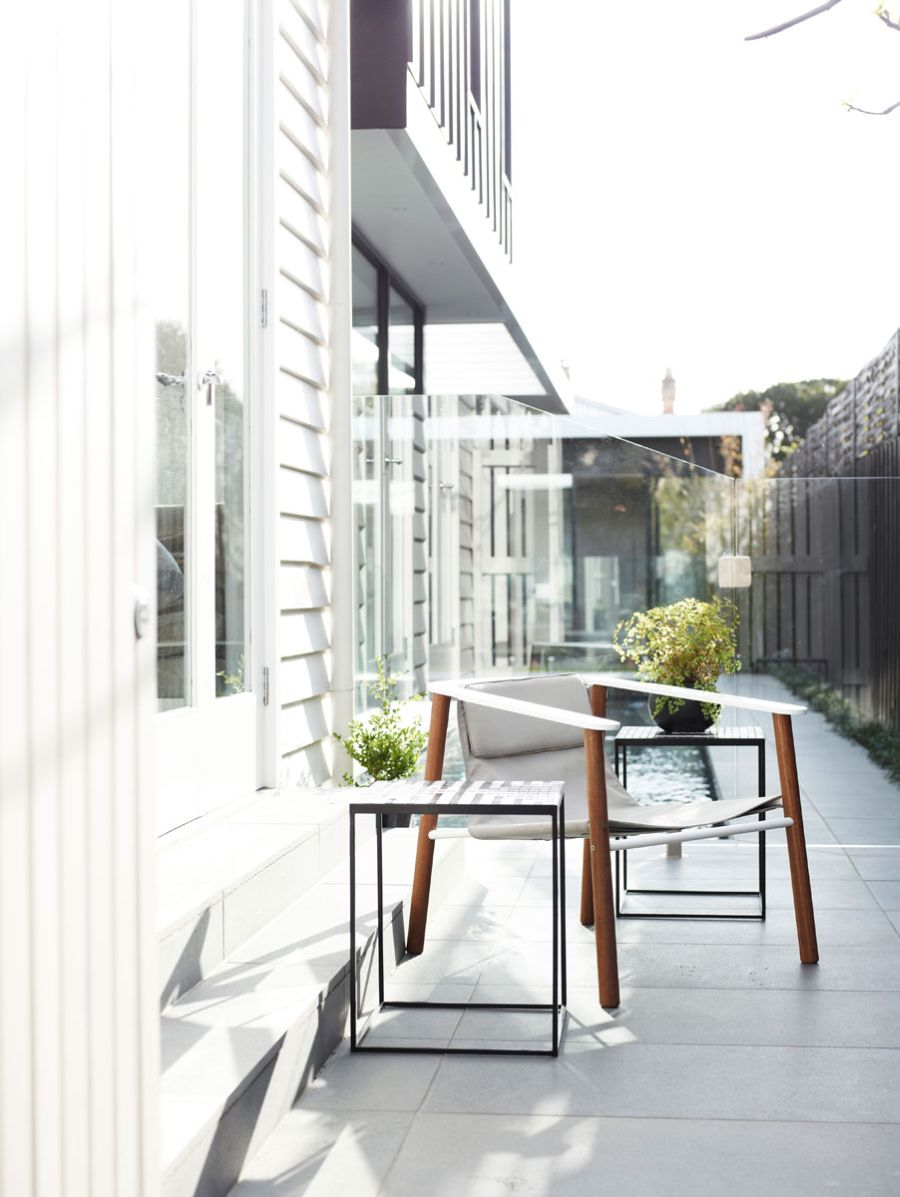 Cozy outdoor seating option