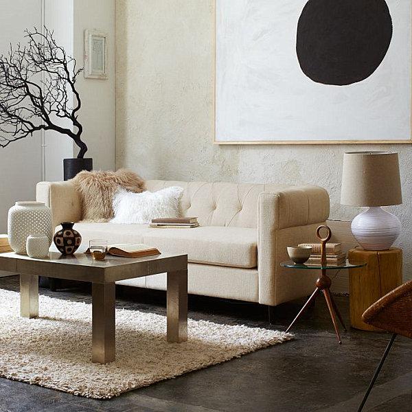 Chunk Wool Rug Family Room