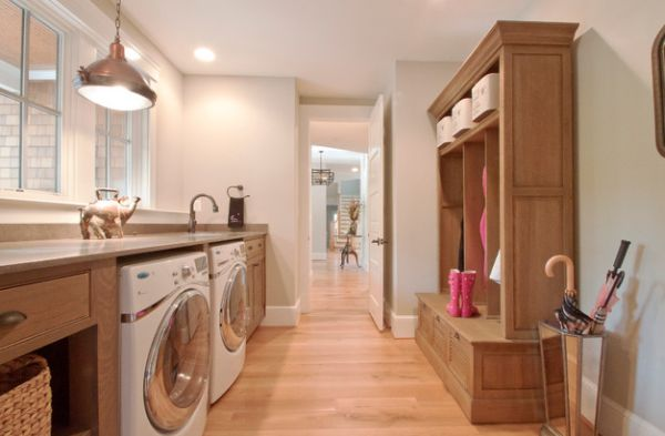 Custom cabinet design for the laundry room