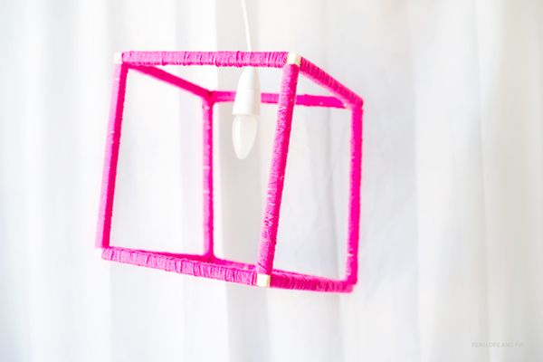 DIY Geometric Lamp Shade