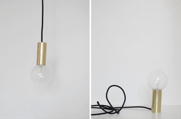 DIY Gold Pendant Light
