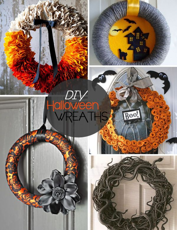 20 diy halloween wreath ideas - Diy Halloween