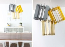 DIY Recycled Cardboard Pendant lights
