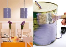 DIY Tin can pendant lights
