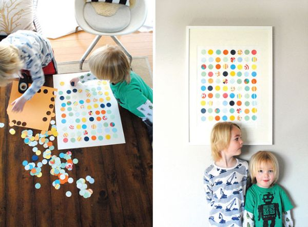 DIY circle punch art for indoors