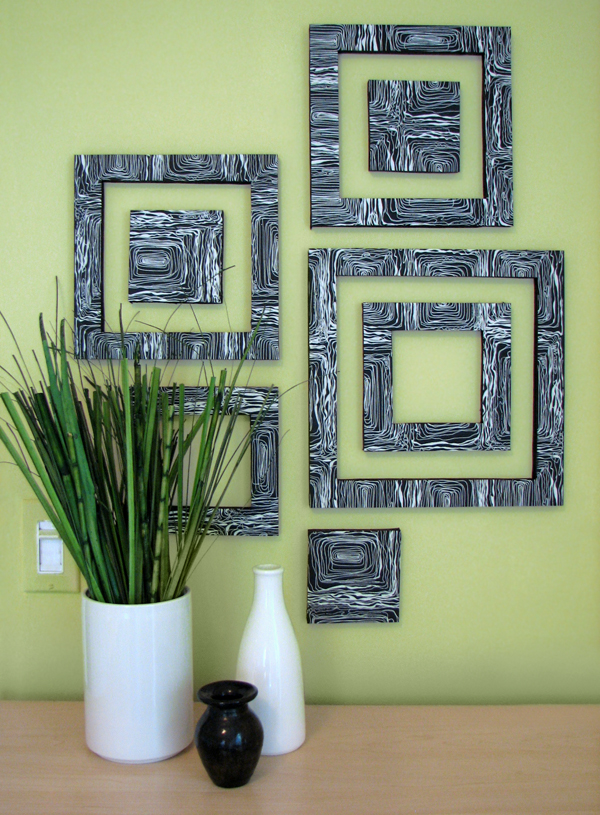 View in gallery DIY patterned wall sqaures : inexpensive wall decor ideas - www.pureclipart.com