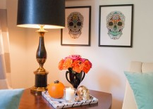 DIY skull wall art for Halloween