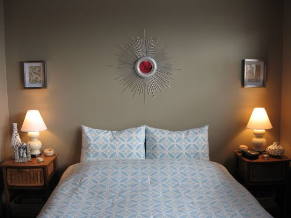 view in gallery diy sunburst mirror in the bedroom - Diy Wall Decor Ideas For Bedroom