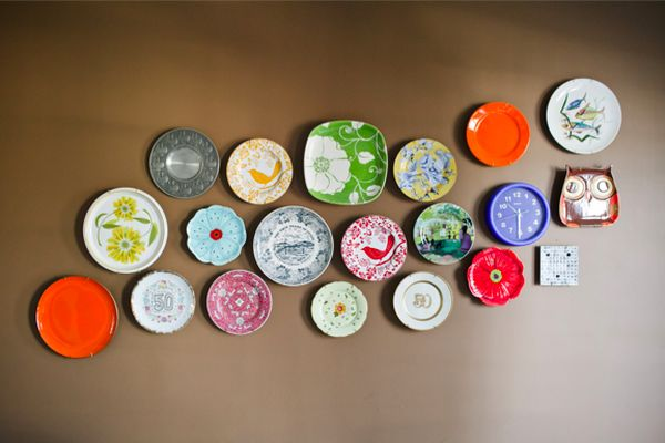 DIY wall art with Plates