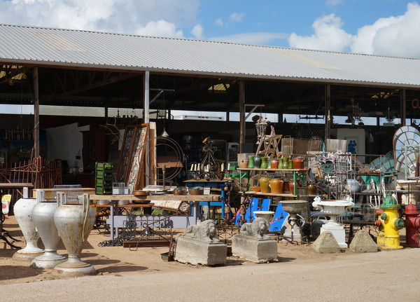 Industrial finds at a Texas antique show