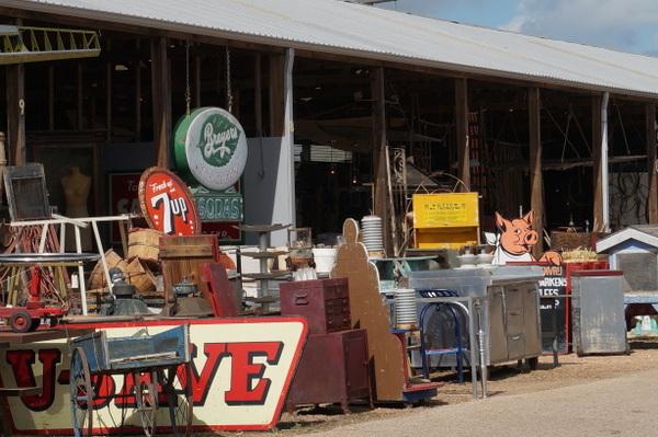 Vintage loot at Excess Field in Warrenton, TX