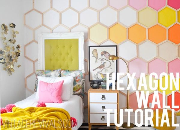 Diy hexagonal wall treatment