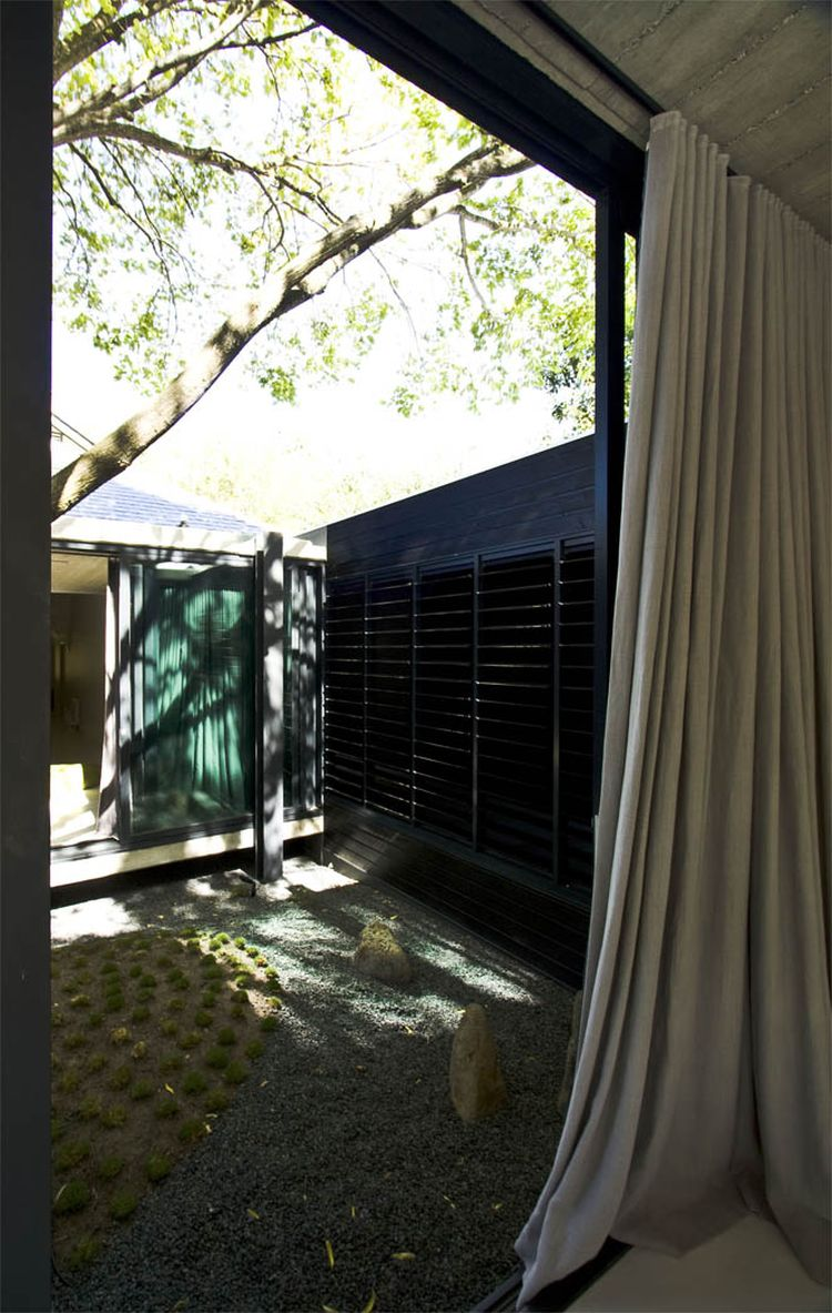 Drapes offer privacy when needed
