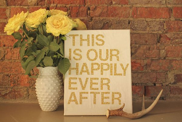 Easy DIY Art Idea with Quotes
