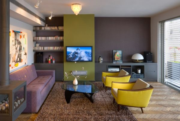 Eclectic living room with a lovely blend of colors