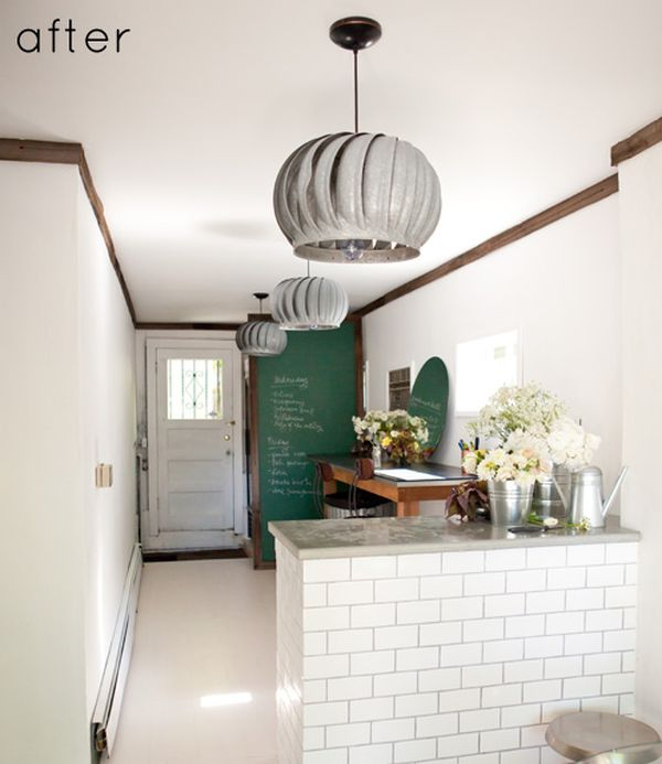 Coolest DIY Pendant Lights - Kitchen fan light fixtures