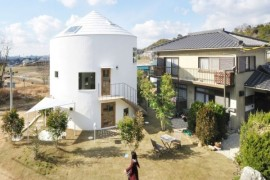 Exterior of Chiharada House in Japan