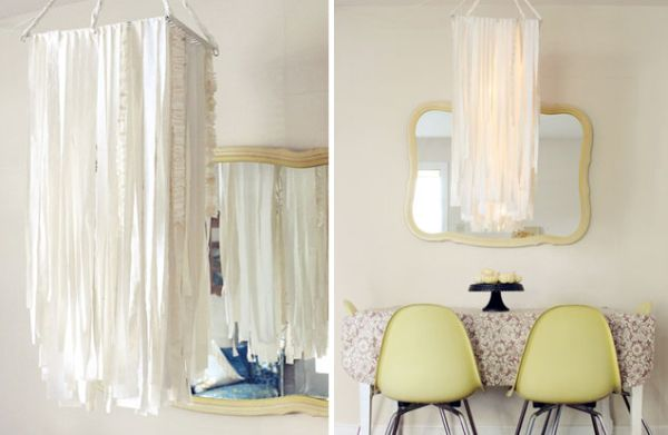 50 coolest diy pendant lights view in gallery fabric garland light mozeypictures Images
