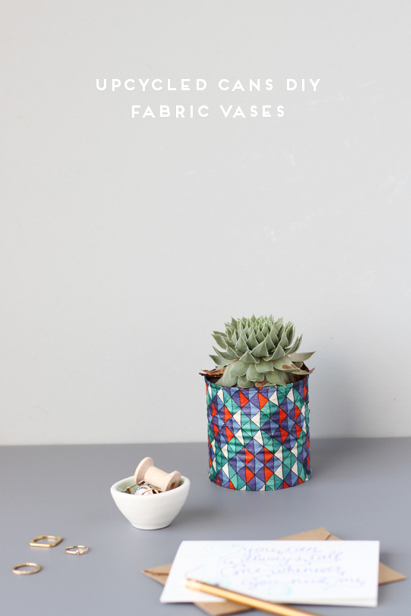 Fabric covered planter