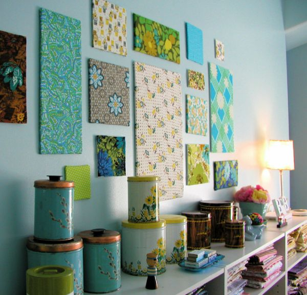 Diy Fabric Wall Panels : Beautiful diy wall art ideas for your home