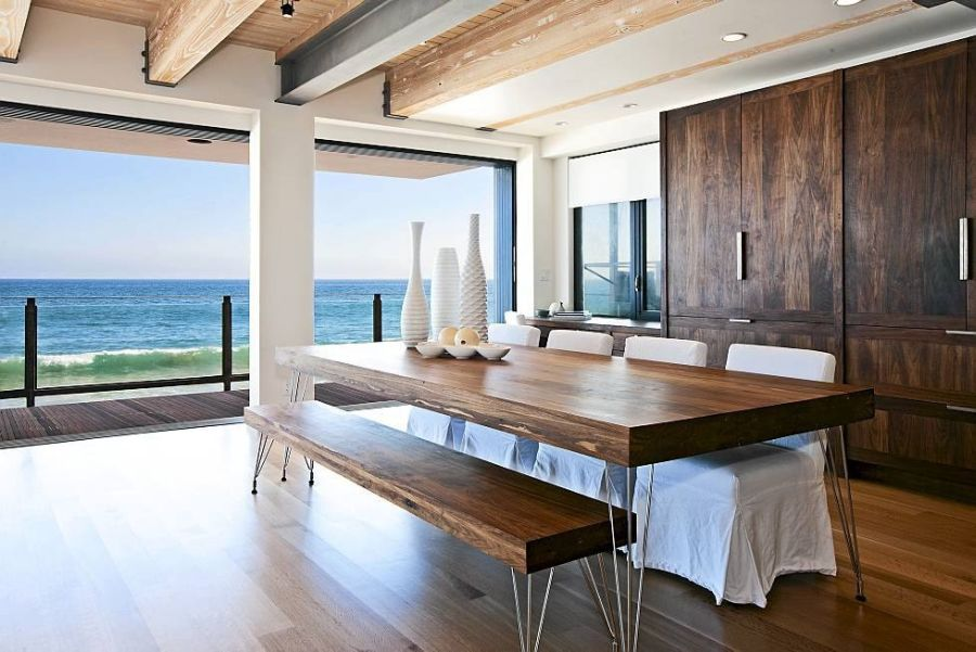 Fabulous dining room with an ocean view