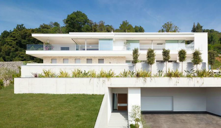Facade of House Lombardo in Switzerland Luxurious Swiss Villa Sizzles With Spectacular Views And A Plush Interior