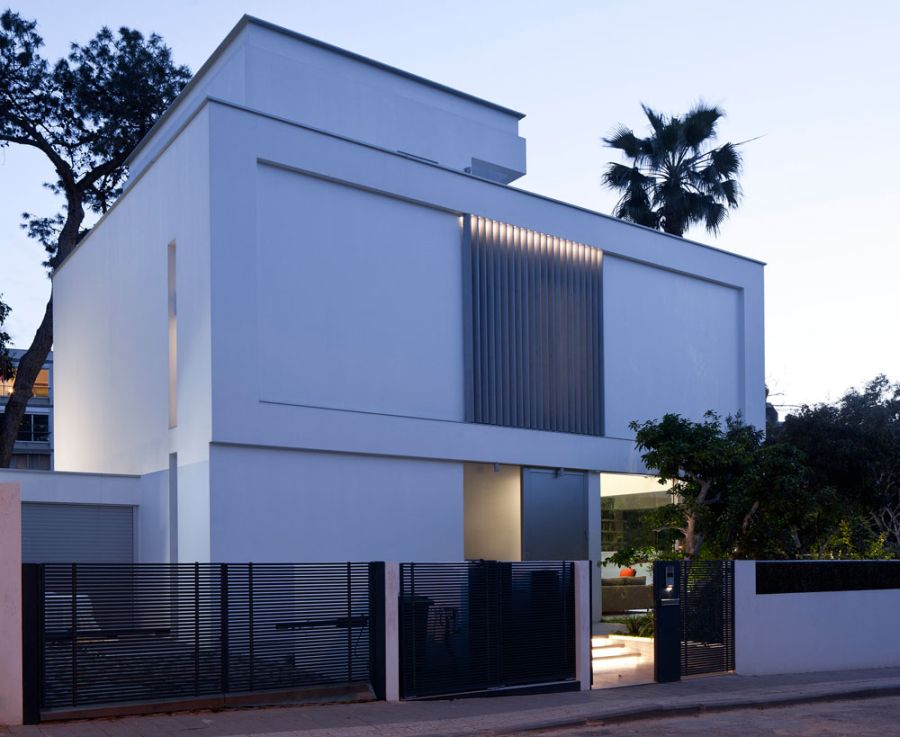 Facade of modern villa in Israel