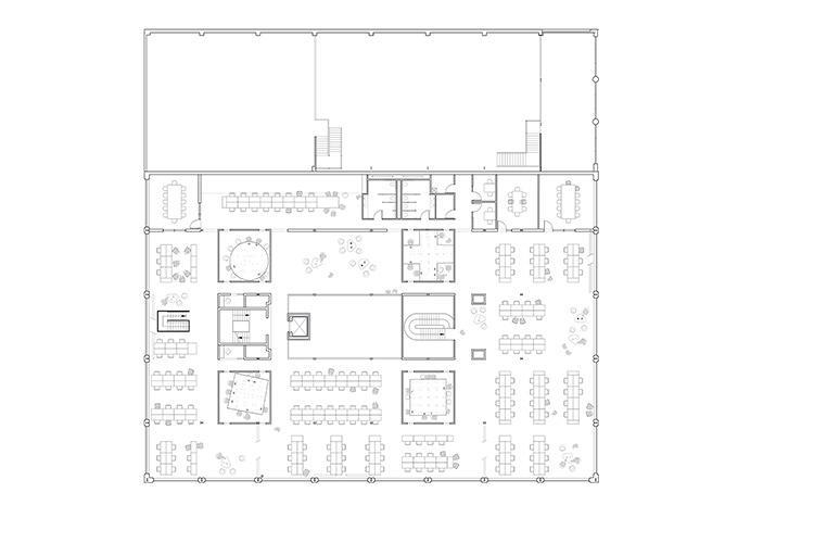 Floor plan of Pinterest Headquarters