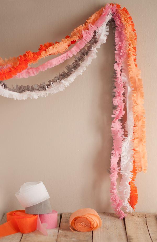 Festive fringe garland