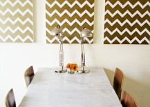 Gold Chevron Wall art