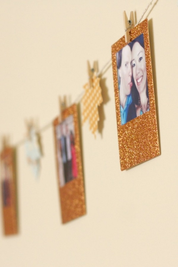 Golden fall garland DIY