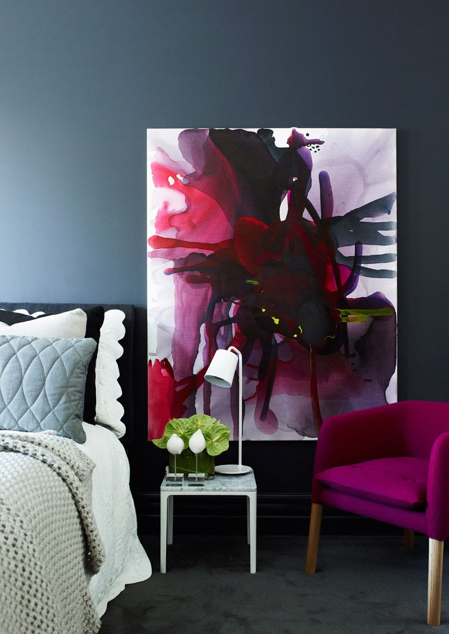 Gorgeous artwork in the bedroom