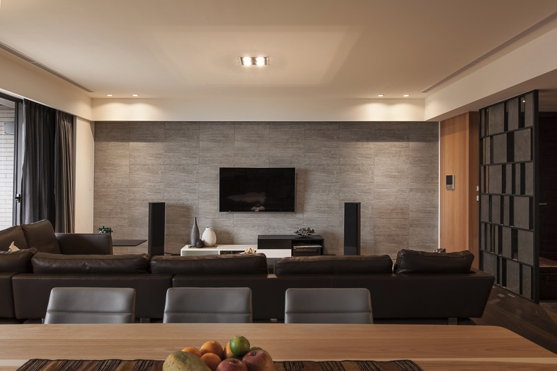 gorgeous living room contemporary lighting. View In Gallery Gorgeous Living Space Warm Grey Room Contemporary Lighting O