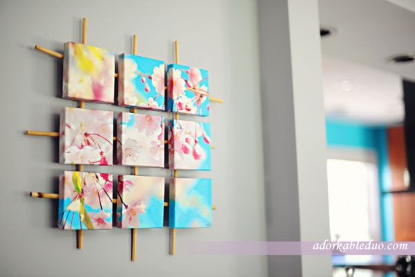 Gorgeous sectioned canvas wall art DIY