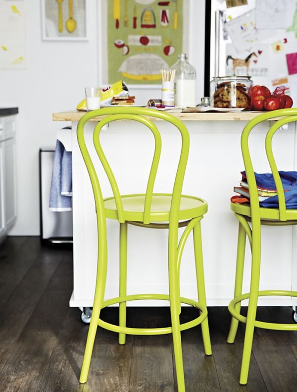 Green bentwood barstools