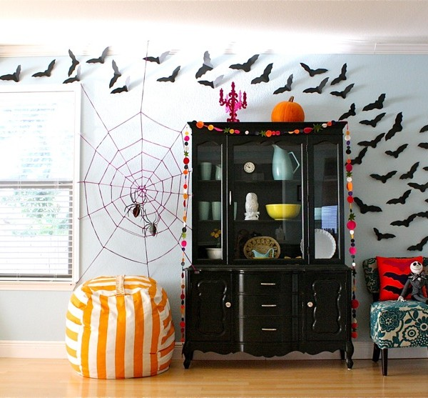 Halloween DIY spider web