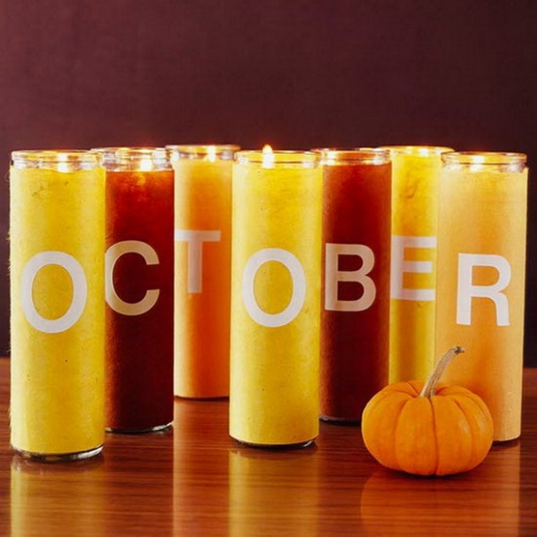 Halloween candles with a message!