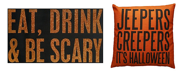Halloween messages in home decor