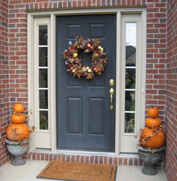 Halloween porch decorating idea for those who prefer a less scary approach