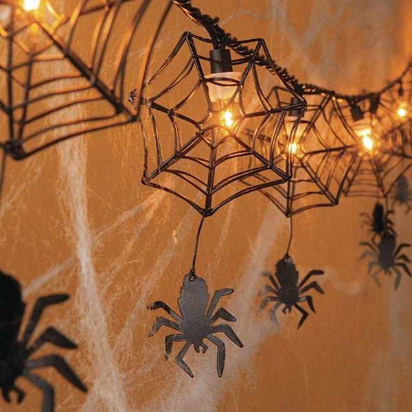 Halloween spider web light