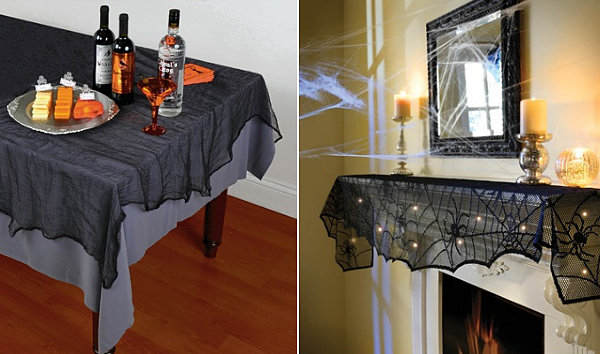 Halloween tablecloth and mantel scarf
