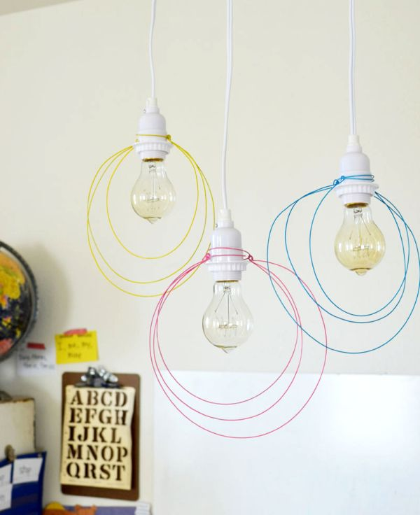 50 coolest diy pendant lights view in gallery halo light pendant diy aloadofball Gallery