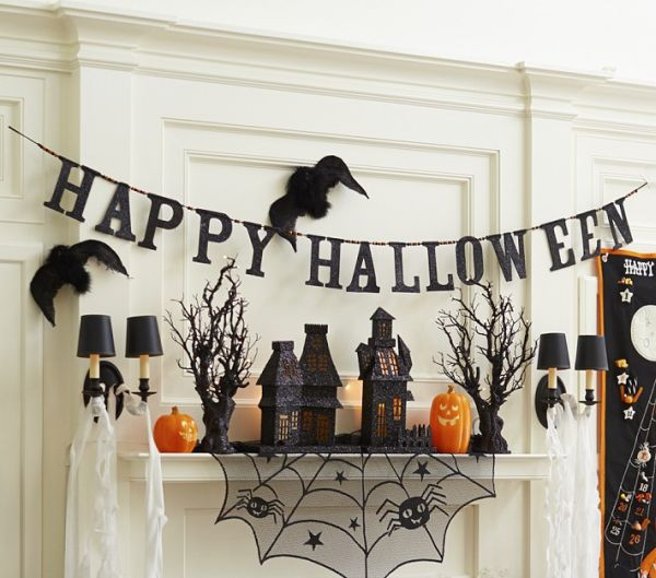 Happy Halloween Garland 10 Last Minute Halloween Decor Ideas