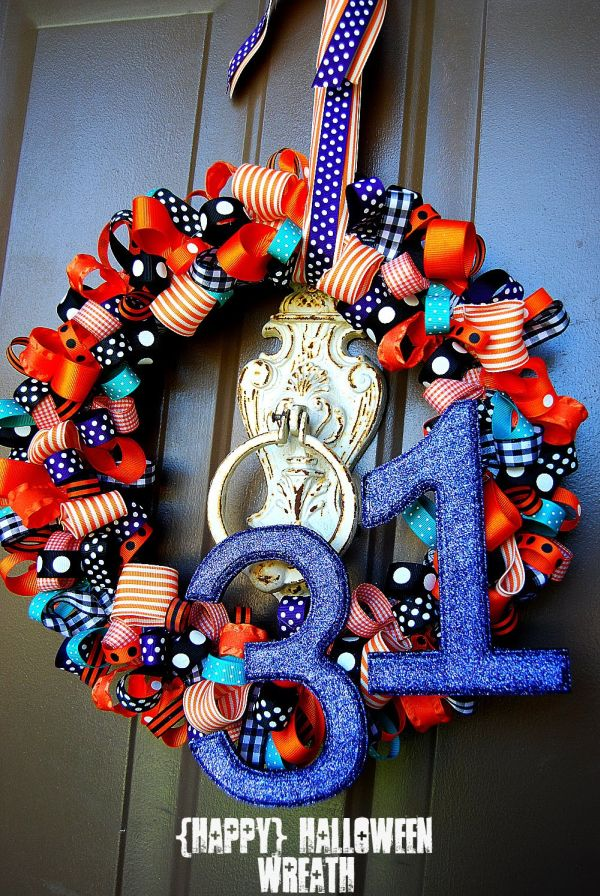 Happy Halloween Wreath Idea