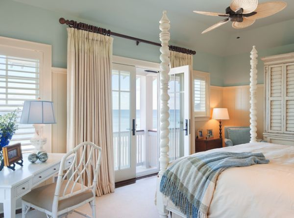 Coastal style interiors ideas that bring home the breezy Blue beach bedroom ideas