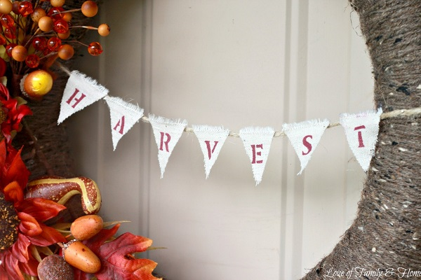 Harvest-inspired wreath